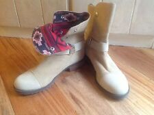 Matt Bernson 7 Tundra Beige Boots Red Indian Blanket Lining Display Model $289