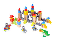 Wooden Knight Castle | 60 Pieces | Blocks Building | Non-Toxic | Tooky Toy