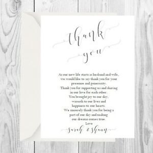 Personalised Wedding Thank You Cards Including Envelopes 15