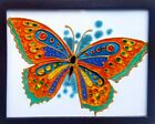 Stained glass painting, Original art, Yellow butterfly, home decor, bedroom deco
