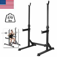 Gym Workout Adjustable Barbell Rack Stand Squat Rack Bench Press Weight Lifting