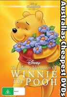 The Many Adventures Of Winnie The Pooh DVD NEW, FREE POSTAGE WITHIN AUSTRALIA