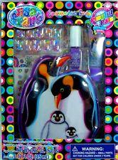 Lisa Frank Penguin Cosmetic Bag Set Press On Nails Polish Lip Gloss Tattoos 67pc