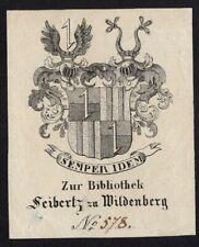 16)Nr.114- EXLIBRIS- Heraldik / heraldry - Warnecke Nr 2008-10 - um 1820