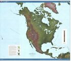 BEAUTIFUL SHADED RELIEF OF NORTH AMERICA GREAT WALL DECOR