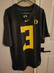 Nike Dark Green Oregon Ducks #3 2020 Football Jersey Men's Size: XL