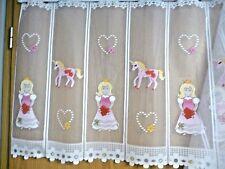 Scheibengardine Store Kinder Einhorn Prinzessin Meterware H 60cm je 29cm weiß