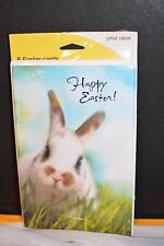 Brand New Lot 6 HAPPY EASTER Cards Bunny Rabbit 'Just For You'
