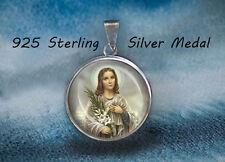 St. Maria Goretti Catholic Medal. Sterling Silver 925 Medal. Genuine Silver