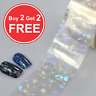 20x4cm Transfer Foil Holographic Clear Nail Art Glitter Stickers 3D Nails UK