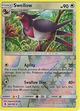 POKEMON SUN & MOON GUARDIANS RISING CARD: SWELLOW - 104/145 - REVERSE HOLO