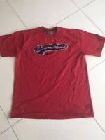 Men's Nike T-Shirt Size L Red (Word Basketball In Blue Across Front)