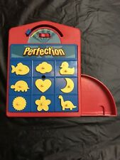 Hasbro Travel Perfection Game Beat the Clock Match Shapes