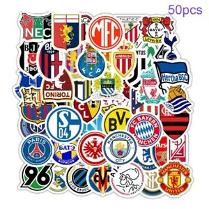 new Soccer football Club Teams Stickers 50Pcs For Skateboard Laptop Guitar