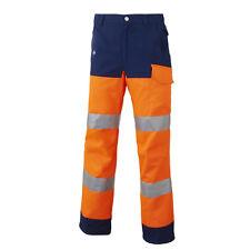 Pantalon de travail  Luk-light Molinel Orange Fluo Marine  haute visibilité T-56