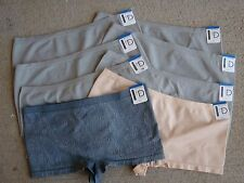 BoyShort Style~8 Pair~Size XL~by NewDirections~SR $72~6 Gray, 1 Tan,1 Gray Snake