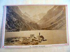 OLD ALBUMEN/CABINET CARD: CAUTERETS~LAC DE GAUBE~ca 1880~ANIMATED