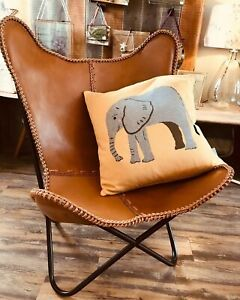 Leather butterfly chair Leather Lounge Relax Arm Chair Butterfly Chair