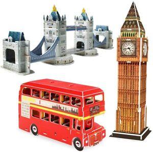 3D Puzzles EPS Foam board Educational creative, No Glue -  Tour of London Bus
