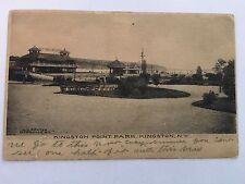 Old Vintage B&W Used Postcard Kingston Point Park, Kingston, N.Y.
