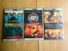 sony psp umd movies lot of 3, Without a paddle, Gone in 60 secs, Kingdom of Heav