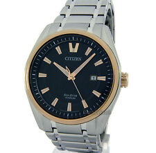 CITIZEN MEN ECO-DRIVE JAPAN MADE SOLID TITANIUM DATE SAPPHIRE 42mm AW1244-56E