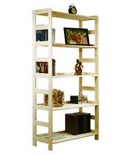 HOLZREGAL Regal Bücherregal Büroregal Serie R- / 8 Varianten Kiefer natur massiv