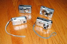 Lot of 4 Cameras- Sony W1,Olympus Stylus 500,HP M22,Fujifilm A360-For Parts Only