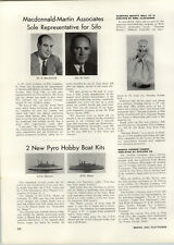 1959 PAPER AD Article Madame Alexander Dolls Slleeping Beauty Toy Pyro Boat Kits