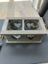 Beautiful Shabby Chic Country Rustic Double Candle Holder