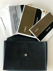 Renault Fluence Owners Handbook Set for Australia 2011 - 2014 with Leather Case