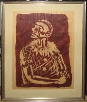 Remigius Netzer (1916-1985) Expressionist Woodcut Listed German Artist