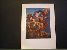 Maxfield Parrish original book plate 1926  A Wonder Book and Tanglewood Tales NR