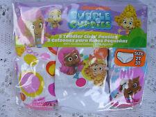 "L@@k Nickelodeon   ""BUBBLE GUPPIES""  GIRLS  3 pr.. PKG. PANTIES  SIZE 4T  NWT"