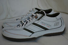 SKECHERS BOARDWALK SNEAKERS DOLBY SHOES LOAFER LACE UP SZ 7 WHITE CASUAL NE