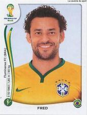 N°050 FRED # BRASIL STICKER PANINI WORLD CUP BRAZIL 2014