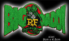 """RAT FINK """"BIG DADDY"""" Hot-Rod Iron-On / Sew-On Embroidered Patch - NEW - #1U13"""