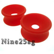 PAIR 3/4 INCH 20MM CONCAVE SOFT SILICONE PLUGS TUNNELS