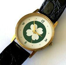 Image California Quartz Japan Movt Four Leaves Clover Lucky Wrist Watch Runs