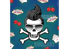 Cráneo de Elvis Estilo Retro tarjeta de saludos - 50s, Rockabilly, Quiff, Vegas, Rey