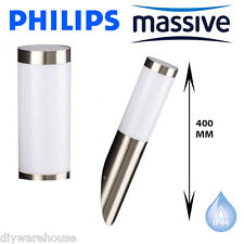 PHILIPS MASSIVE UTRECHT STAINLESS STEEL EFFECT WALL LIGHT MODERN DESIGN 400MM