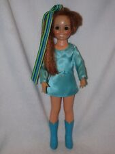 Vintage Ideal Red Hair Crissy Grow Hair Doll  Wearing Teal Dress