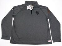 NEW Stitches San Francisco Giants Men's XXL 1/4 Zip Pullover Lightweight Gray