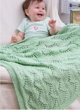 Knitting Pattern -Baby Cot/Pram Cover/Blanket P0077