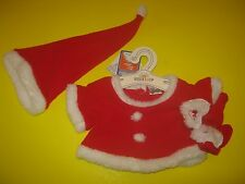 New BUILD-A-BEAR GRINCH Red SANTA SUIT Costume Outfit Hat Booties