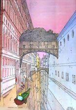 Affiche BD MOEBIUS Venezia Venise céleste  69X98 cm