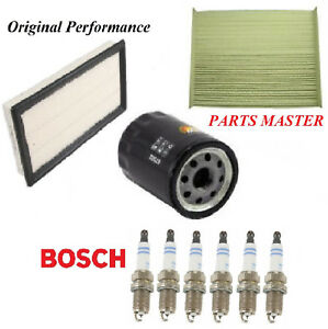 Tune Up Kit Air Cabin Oil Filters Spark Plugs For FORD FUSION V6 3.5L 2010-2012