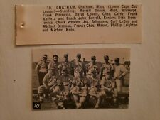 Chatham Massachusetts 1962 Baseball Team Picture RARE!