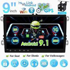 New listing 9'' Car Radio Android Gps Usb Fm For Vw Polo Golf Passat Eos Altea Caddy +Camera