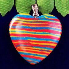 Pendant Bead 24x2x45mm L33434 Rainbow Turkey Turquoise Heart